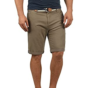 !Solid Monty Herren Chino Shorts Bermuda Kurze Hose Mit Gürtel Aus Stretch-Material Regular-Fit