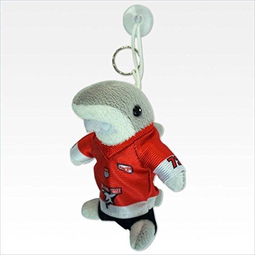 Kölner Haie Auto-Sharky Plüsch Maskottchen, Grau/Rot/Weiß/Schwarz, one Size