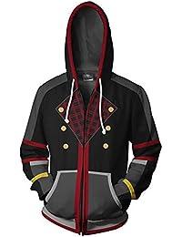 8f304739108 Haililais Kingdom Hearts Chaquetas 3D Sudaderas con Capucha Ocasionales  Abrigo Hipster Jacket Coat con Cremallera Outwear