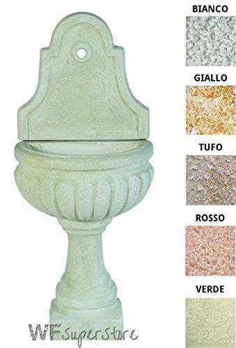 Fontana anticata in pietra ricostruita te giulia - fontanella esterno giardino (bianco-verde)