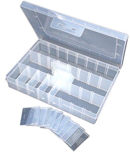 CSC Perlenbox, Sortierkasten Sortierkiste Sortimentskasten Sortierbox auch perfekt für Loom Gummis. Trennwände variabel!