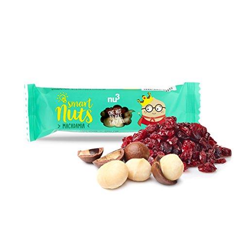 nu3 Bio Superfood Trio Riegel, 15 x 40 g – Der leckere Superfood-Riegel als Oatsnack – Vegane und gesunde Süßigkeiten mit Chia-Samen, Goji-Beeren und Kakao-nibs