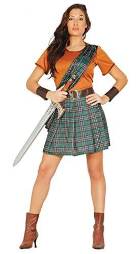 Schottische Kriegerin Kostüm für Damen Schottin Rock Sexy Kämpferin Gr. M/L, Größe:M