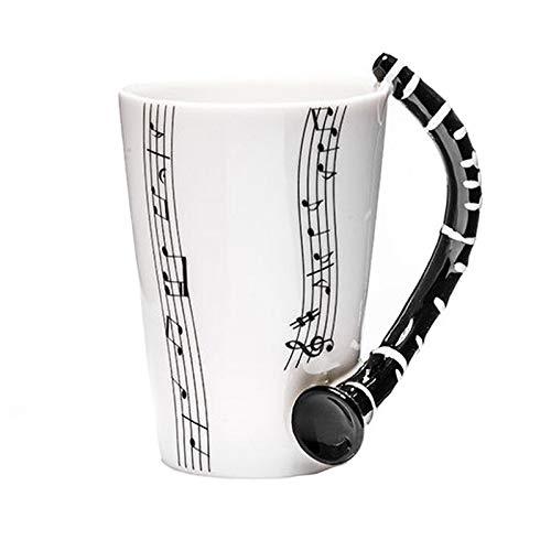 Winpavo tazze set di tazze grandi chitarra creativa/pianoforte/clarinetto/violino/sassofono tazza in ceramica personalità nota musicale succo di latte tazza di limone caffè tazza di tè regal