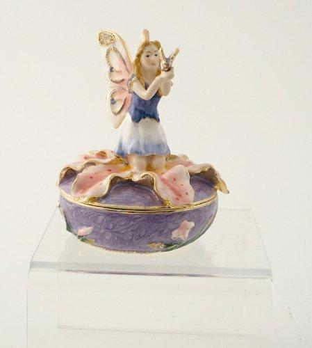 PTC Statue Fee auf Lilie mit Schmetterling, 7 cm