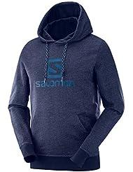 SALOMON Logo Hoodie Sweat à Capuche Homme