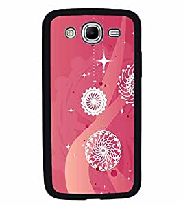 FABCASE Premium shiny sizzling bright modern art hanging lights pink background symmetric shapes Printed Hard Plastic Back Case Cover for Samsung Galaxy Mega 5.8 I9150