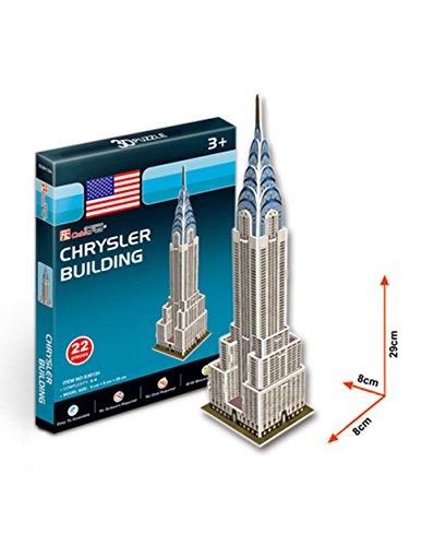 Das Chrysler Building Three-Dimensional-Gebäude Manuelle Montage Papiermodell