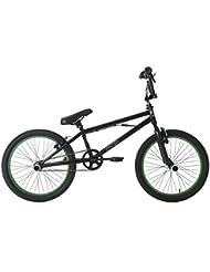 KS Cycling Yakuza Bmx Freestyle Mixte Enfant, Noir