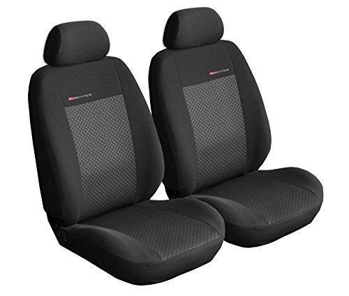 Sitzbezüge Auto Vordersitze Universal Autositzbezüge Schonbezüge Vorne Dunkelgrau-Grau mit Airbag System - Elegance P3