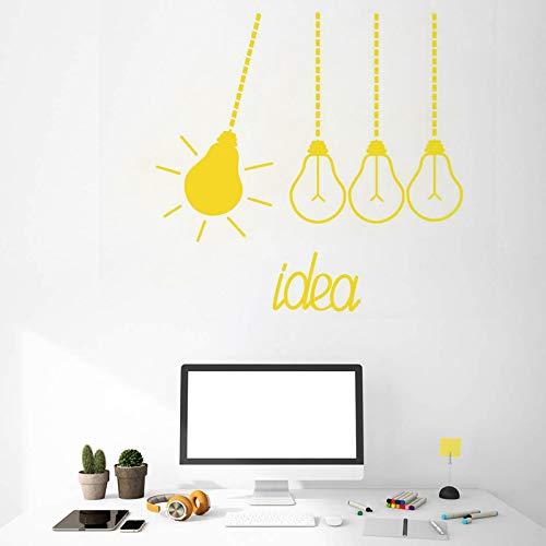 WWYJN Wandtattoo Glühbirnen Idee Lustige Büro Wandaufkleber Vinyl Wandaufkleber Büro Dekoration DIYRemovable42x41cm