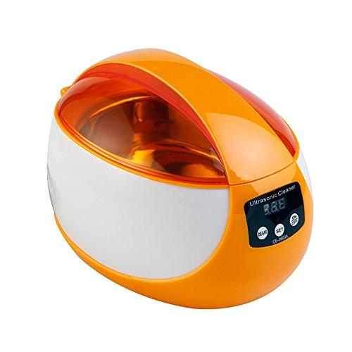 Snowx Ultraschallreiniger-Maschine, (750Ml) Haushalts Schmuck Uhren Prothesen-Brillen Münzen und Mehr, Körperpflege Reiniger Mit Verlängerter Zeitschaltuhr,White