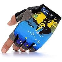 GYPO Barbecue Handschuh Sport Halbe Fingerhandschuhe Fingerlose Handschuhe Fitness Rutschfeste Atmungsaktive Handschuhe Fahrrad Radfahren Outdoor für Männer Frauen (L) Grillen Handschuhe