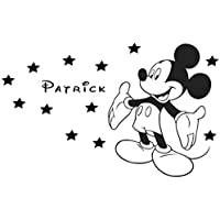 Customised Mickey Mouse boy bedroom wall art sticker.