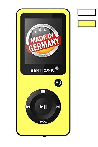BERTRONIC Made in Germany BC02 Royal MP3-Player mit Kopfhörer ★ Bis 100 Stunden Wiedergabe ★ Radio | Portabler Player mit Lautsprecher | Audio-Player für Sport mit Micro SD-Kartenslot