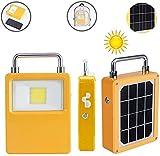 Proiettore a LED cordless portatile, COW 20W 4000 lumen, 3 modalità dimmerabili, lavoro sostenibile 6-18 ore, ricarica USB, 0 tariffa elettricità, nessun cablaggio richiesto, luce di emergenza solare