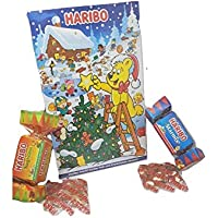 Haribo Christmas Gift Set - 2018 Christmas Advent Calendar 300g + Haribo Christmas Cracker Stocking Filler 120g(Packaging May Vary)