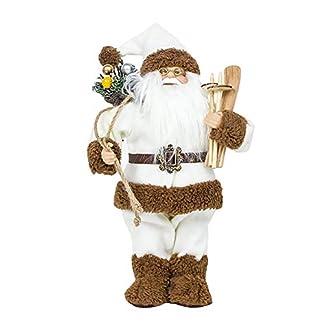 Lsgepavilion – Figura Decorativa de Papá Noel con diseño de Papá Noel, Blanco, Small
