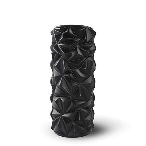 ZWRZZ Fitness Fascia Relaxation Rücken- und Sportroller - Muscle Roller - Yoga Column Foam Axial Deep Tissue Massage Roller Für schmerzhafte Muskeln und Rückenschmerzen (Color : Schwarz) (Massage-roller-handschuh)