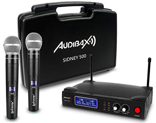 Audibax Sidney 500B Microfono Wireless Professionale UHF Doppio Mano