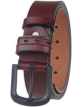 GangTu 100% Cuero Hombres Cinturones