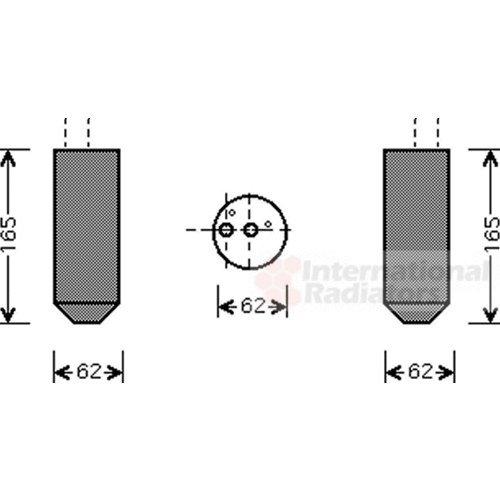 Preisvergleich Produktbild VAN WEZEL 1700D348 Trockner,  Klimaanlage