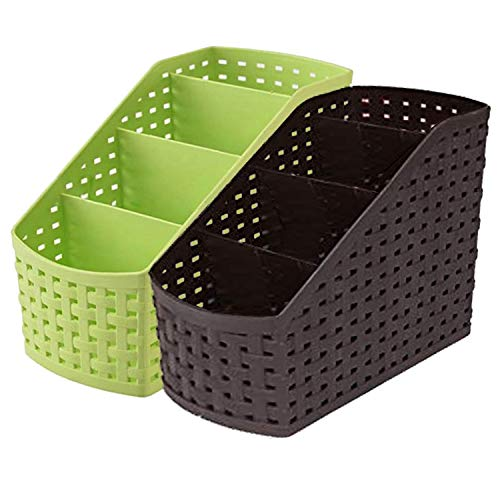 Kuber Industries Compact 2 Piece Plastic Storage Basket (CTKTC5268)