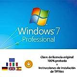 MS Windows 7 Pro 32 Bits y 64 Bits - Clave de Licencia Original por Correo Postal y Electrónico + Instrucciones de TPFNet - Envío Máximo 60min