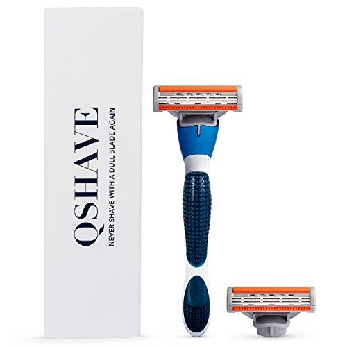 Qshave azul serie Manual hombre afeitado maquinilla
