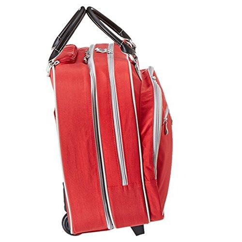 Baggallini Classic Tote di rotolamento dei bagagli Handbag APPLE
