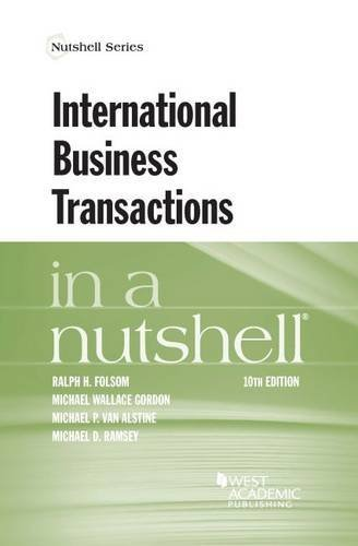 International Business Transactions in a Nutshell by Ralph Folsom (2016-04-01)