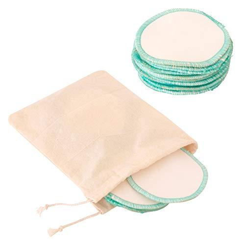 Earthtopia 10 Stück waschbare Abschminkpads aus 100{6ef3bdcb167627b5b3081ccb53f38cc39e2803666572959d3e18f73277b2242a} Bio-Baumwolle | Fair hergestellt und wiederverwendbar | 10 Kosmetikpads inkl. Wäschesäckchen
