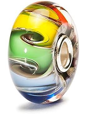 TrollBeads Damen-Bead Chakra farben Glas 925 Sterling Silber TGLBE-20003