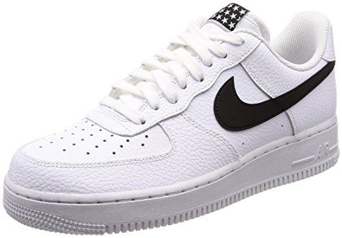 Nike air force 1 '07, scarpe da ginnastica uomo, nero (white/black 103), 42 eu
