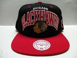 Mitchell and Ness NHL Chicago Blackhawks Arch 2 Tone Snapback Cap