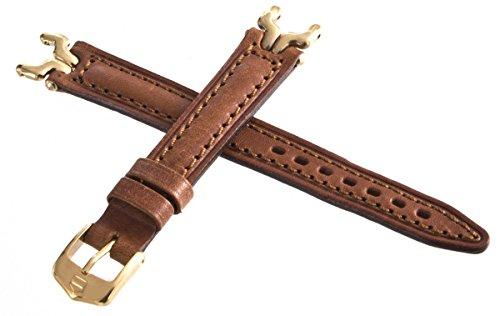 Tag HEUER SEL braunes Lederband Goldfarbene Gliederschnalle 13 mm
