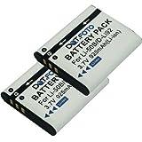 2 x Dot.Foto Batterie de qualité pour Pentax D-LI92 - Entièrement 100% compatibles - garantie de 2 ans