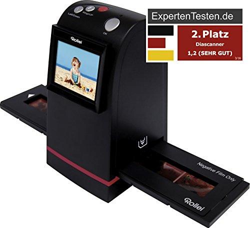 Rollei DF-S 190 SE - Dia-Film-Scanner mit 9 Megapixel und 2.4 Zoll Farb-TFT-LCD Display und umfangreichem Zubehör, für Speicherkarten bis zu 16GB - Schwarz - 4