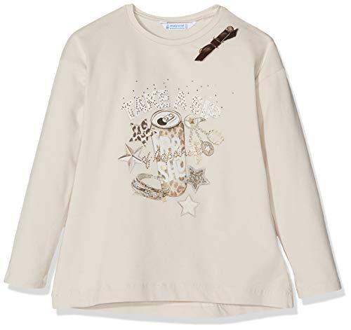Mayoral 4048, Camiseta de manga larga para Niñas, Gris (Piedra 78), 7 años (Tamaño del fabricante:7)