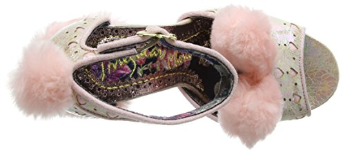 Irregular Choice Cream Puff, Scarpe Col Tacco con Cinturino a T Donna Pink (Pink)