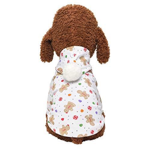 Bein 2 Kostüm Hunde - Balock Schuhe Haustier Kleidung,Haustier Zwei Beine Weihnachtskleid,Hund Katze Winter Warmes Weihnachtskatzen Elch Muster Kostüm,Halloween Party Hund Weihnachten Verkleidung Kostüm (Khaki, L)