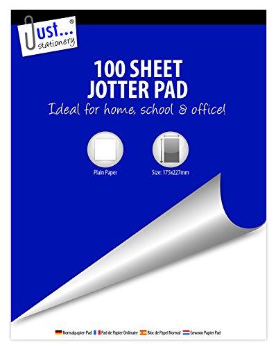 Solo articoli di cancelleria–12x 100fogli super valore Jotter Plain Paper Block Pad