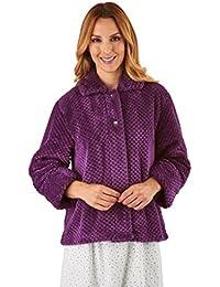 266f65a466 Slenderella BJ8315 Women s Plum Purple Robe Long Sleeve Dressing Gown