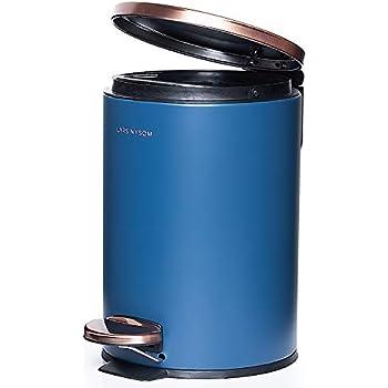 in plastica KW Clappe capacit/à 5 l Deep Blue con coperchio basculante Pattumiera da bagno//cucina