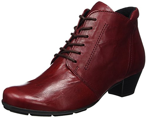Gabor Shoes Damen Basic Stiefel, Rot (Dark-Red), 38 EU (Leder-schuhe Rote)