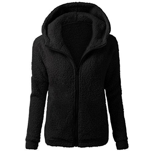 SHOBDW Mujeres de Invierno de Lana cálida Cremallera Abrigo con Capucha suéter Abrigo de algodón...