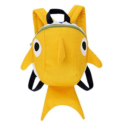 Mounter Sacs à dos Enfant [Saison Scolaire], Unisexe Mignon Dessin 3D Requin Animal Modèle Fermeture éclair Jardin D'enfants Préscolaire Mini Sac Backpack, Voyages Scolaire Loisirs Sac