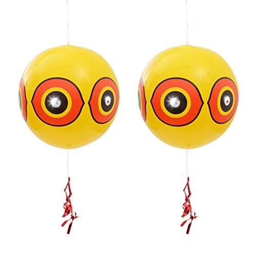 Gardigo 2 Ballons Épouvantails Effaroucheurs Anti-Pigeons, Oiseaux, Hérons, Pies, Vanneaux et Moineaux