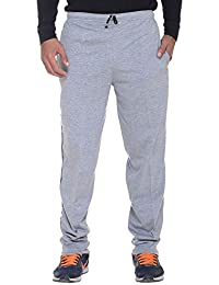 ELK Mens's Grey Cotton Track Pant Trouser With Side Pockets Clothing Set