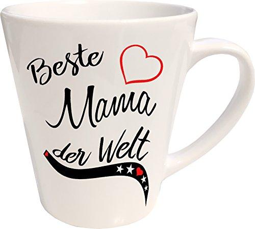 Mister Merchandise Kaffeebecher Latte Tasse Beste Mama der Welt Mutter Mutti Geschenk Muttertag Baby Schwanger Milchkaffee Becher konisch Weiß